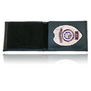 Billfold Badge Case/Wallet w/ Cc Slots & Id Window-