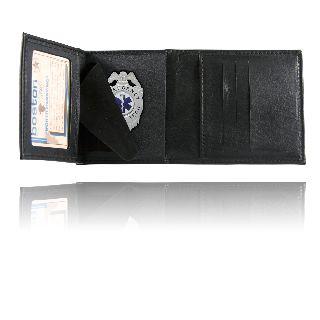 Tri-Fold Badge Wallet w/ Cc Slots-
