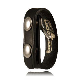 Belt Keeper With Hidden Cuff Key-