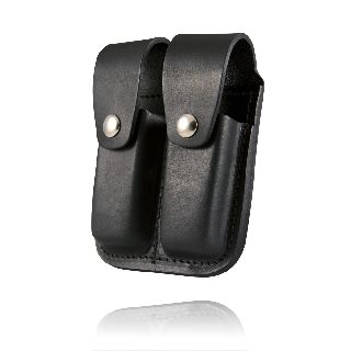 Clip Pouch, Double, For 9mm Or .40 Cal-Boston Leather