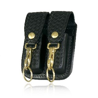 5601 Double Mag Pouch w/ Double Key Holder-Boston Leather