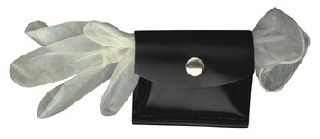Rubber Glove Pouch, Hook & Loop Closure-