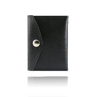 Book Style Badge Case With Snap Closure-Boston Leather
