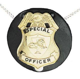 Round Badge Holder, Neck Chain, No Clip-