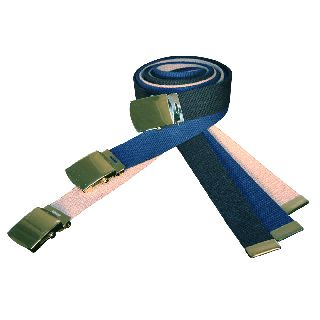 "Cotton Web Belt, 52"" Cut To Fit w/ Buckle-"