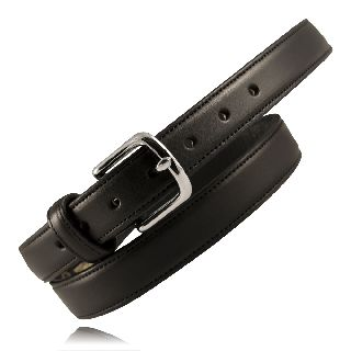 "1 1/4"" Heavy Leather Feather Edge Dress Belt-"