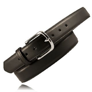 "1 1/2"" Heavy Leather Feather Edge Dress Belt-Boston Leather"