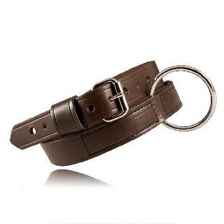 "1 1/2"" Restraint Belt, Brown, 32-54-Boston Leather"