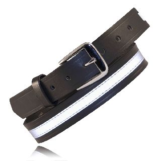 "1 1/4"" Off Duty Belt, w/ Reflective Ribbon-Boston Leather"