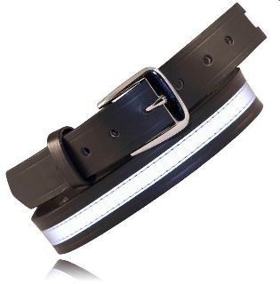 "1 1/2"" Off Duty Belt, w/Reflective Ribbon-Boston Leather"