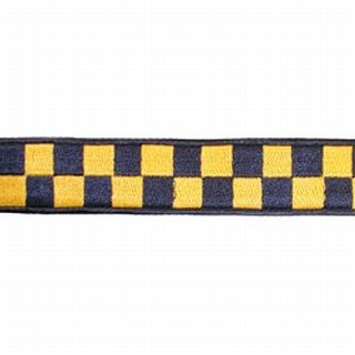 "1 1/2"" Navy & Gold Nylon Collar (Adjusts 14""-22"")-Boston Leather"