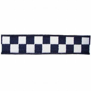 "1 1/2"" Navy & White Nylon Collar (Adjusts 14""-22"")-"