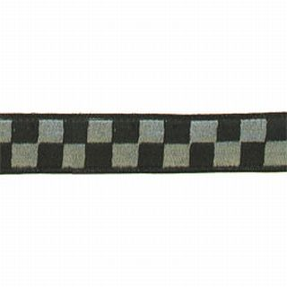 "1 1/2"" Black & Grey, Subdued, Nylon Collar-"