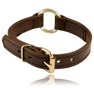 "1"" Center Ring Collar-Boston Leather"