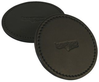"Leather Coaster, 4"" Diameter-Boston Leather"