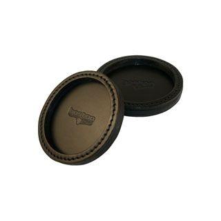 "Deluxe Leather Coaster, 4"" Diameter-"