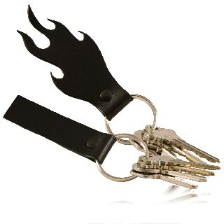 Zipper Pull - Flame Shaped - Key Fob-