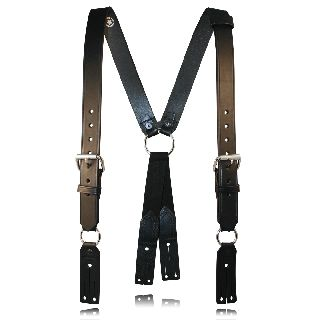 "Fireman""S Leather Suspenders (Button)-"