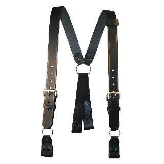 "Fireman""S Suspenders (Snaps Onto Itself - Loop)(3"" Longer)-Boston Leather"