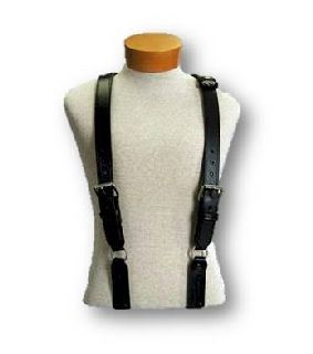 """H"" Back Suspenders (Snaps Onto Itself - Loop)-Boston Leather"