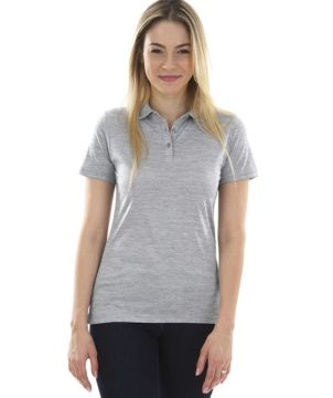 Womens Space Dye Polo Shirt-