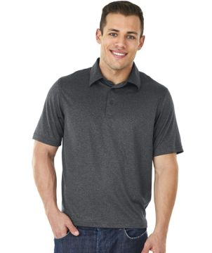 Mens Heathered Polo-Charles River Apparel