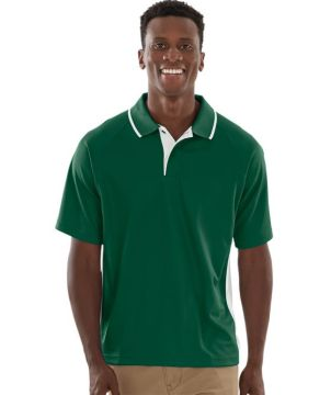 Mens Color Blockedwicking Polo-