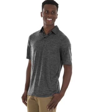Mens Space Dye Polo Shirt-Charles River Apparel