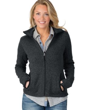 Womens Heathered Fleecejacket-Charles River Apparel