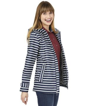 Stripe Raincoat-Charles River Apparel