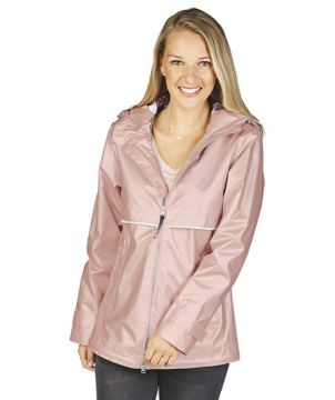 Newenglander Rain Jacket with Printed Lining-Charles River Apparel