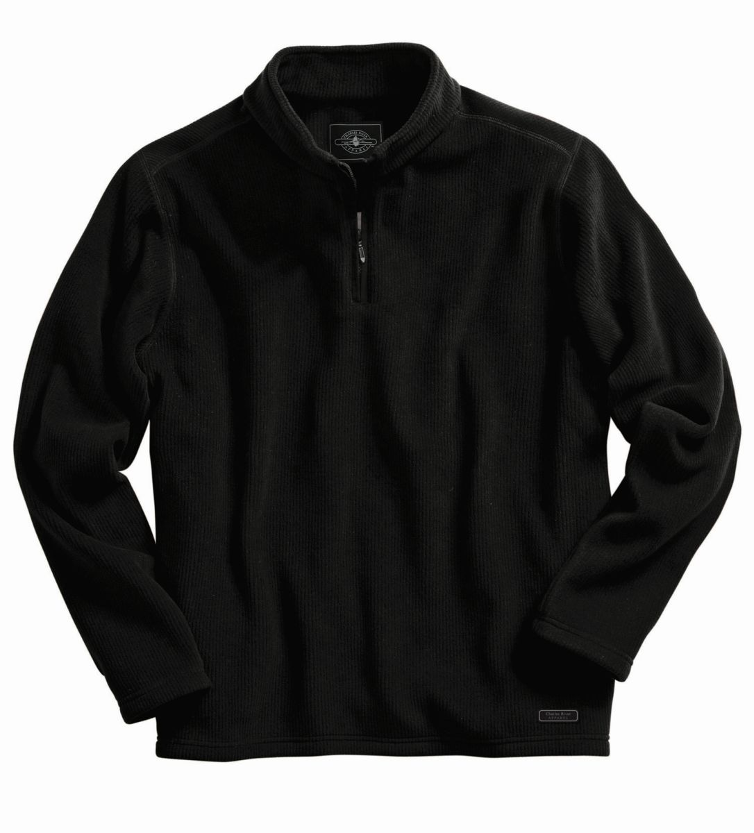 Bonded Corduroy Fleece Pullover-Charles River Apparel