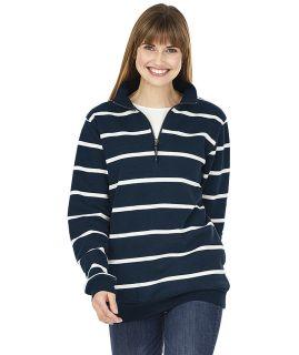 Crosswind Quarter Zip Print Sweatshirt-Charles River Apparel