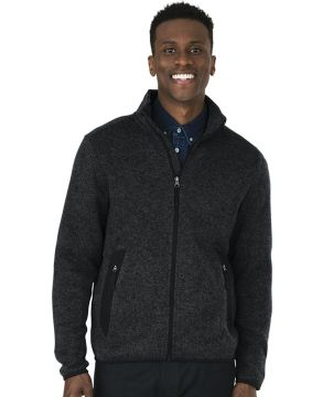 Mens Heathered Fleecejacket-