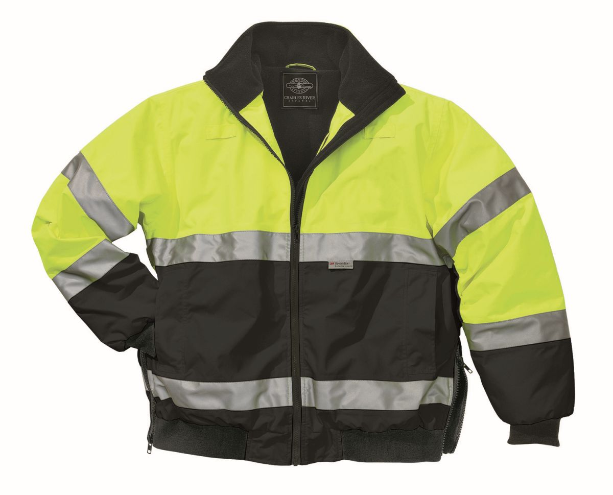 Signal Hi-Vis Jacket-Charles River Apparel