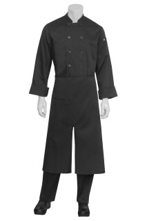 Split Bistro Apron Black-