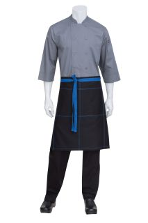 Wide Half Bistro Apron with Contrast Ties-
