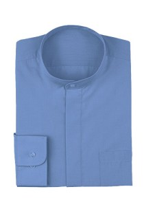 Banded-Collar Shirt-
