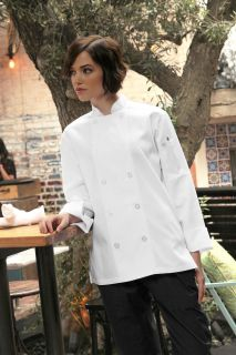 Le Mans Women's Basic Chef Coat-CW