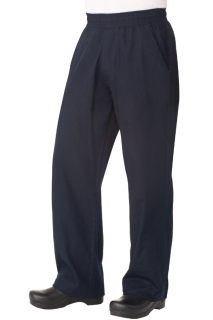 UltraLux Better Built Baggy Mens Navy Blue Chef Pants