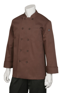 Padova Chocolate Basic Chef Coat-CW