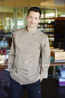 Cyprus Khaki Basic Chef Coat-CW