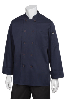 Torino Navy Basic Chef Coat