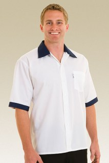 Navy Contrasting Cook Shirt-