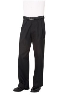 Black Basic Chef Pants-Chef Works