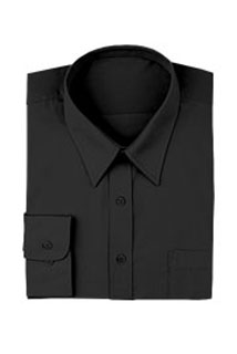 Black Basic Dress Shirt-CW