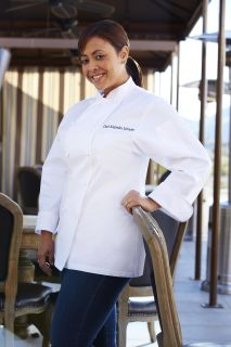 Elyse Women's Egyptian Cotton Chef Coat-