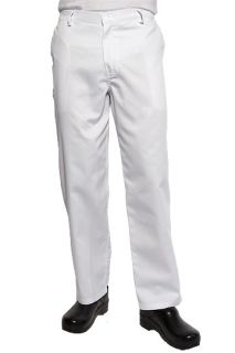 White Basic Chef Pants-