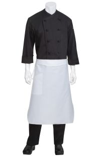 White Tapered Chef Apron