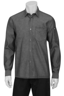 Detroit Long-Sleeve Denim Shirt-CW